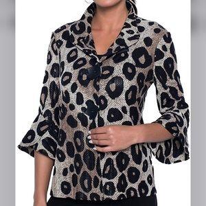 Frank Lyman Leopard Woven Jacket Size 6